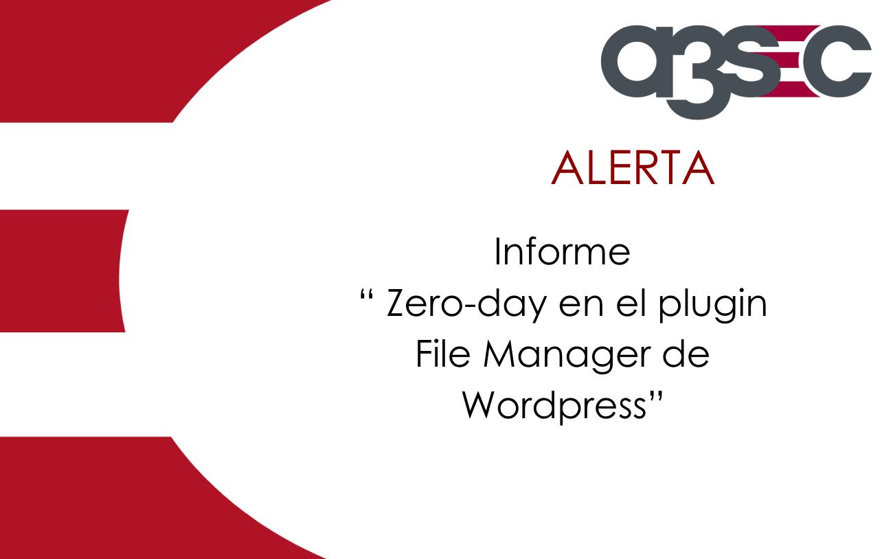 Zero-day File Manager de Wordpress