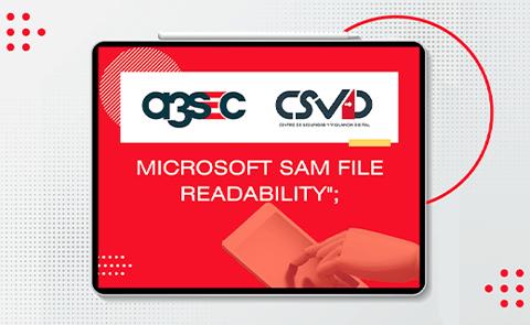 Vulnerabilidad Microsoft SAM File Readability